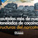 Incautadas más de nueve toneladas de cocaína a estructuras del narcotráfico