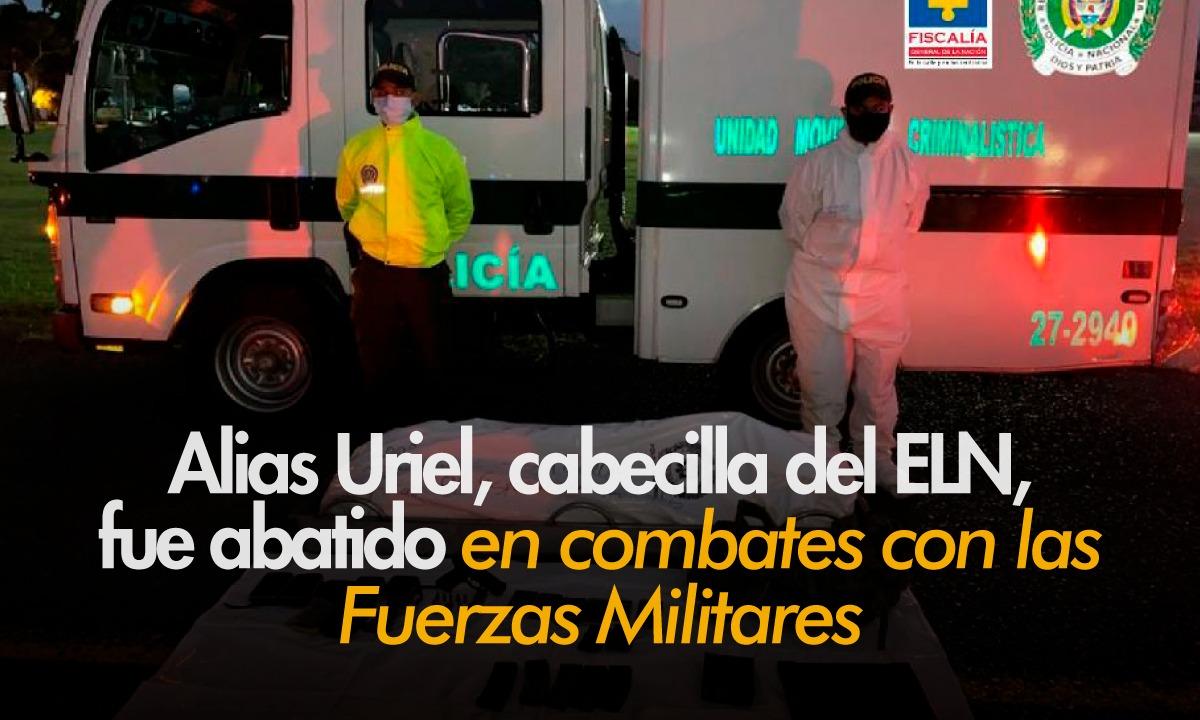 Muerto en combates con las Fuerzas Militares en Nóvita (Chocó), Andrés Felipe Vanegas Londoño, alias 'Uriel'