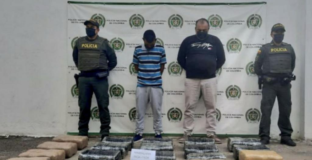 A la cárcel dos presuntos implicados en transporte de más de 100 kilos de estupefaciente en Yaguará - Noticias de Colombia